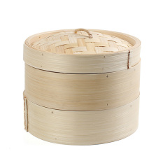 Cheap 2 Tier 8 Bamboo Steamer Chinese Dim Sum Basket Rice Pasta Cooker Set With Lid Online