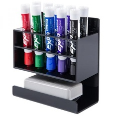 2 Tier Black Acrylic Dry Erase Whiteboard Marker And Eraser Holder Stand Intl Reviews