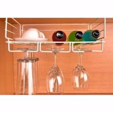 Review 2 Tier Glassware Hanger Hanging Organizer Wine Champagne Cups Hanger Holder On Singapore