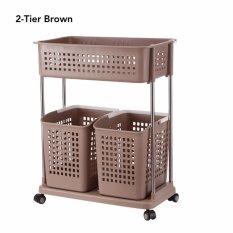 2 Tier Large Capacity Moving Laundry Basket By Lifehacks.sg.