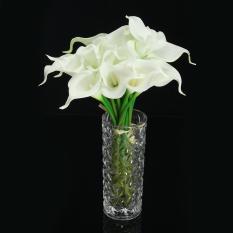 20 Heads Wedding Flower Latex Real Touch Silk Calla Lily Flower Wedding Decor - intl