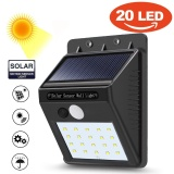 20 Led Solar Power Pir Motion Sensor Wall Light Outdoor Garden Waterproof Lamp Intl Price