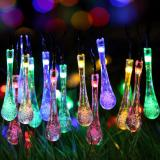 20 Led Water Drop Solar Powered String Lights Led Fairy Light For Wedding Christmas Party Festival Outdoor Indoor Decoration Intl Free Shipping