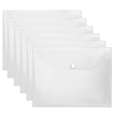 Price 20 Pcs A4 Size Clear Document Paper File Folder Bag Case Envelope With Snap Button Intl Vococal New