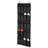 Who Sells 20 Porkets Non Woven Fabric Pouch Door Home Wall Shoes Bag Organizer Space Saver Rack Hanging Storage Hanger Black Cheap