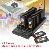 20 Restaurant Coaster Pager Guest Call Wireless Paging Queuing Calling System Intl Discount Code