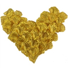 The Cheapest 2000Pcs Silk Rose Petals Artificial Flower Petals Wedding Decorations For Party Favor (Gold) Intl Online