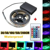 Compare Prices For 200Cm 4 5V 5050 Rgb Led Flexible Strip Light Battery Powered Intl