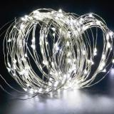Cheap 200Leds Solar String Lights Starry Light Outdoor Christmas Fairy Lights Warm White Copper Wire Led 8 Modes Flash 1800Ma White