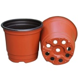 Top 10 200Pcs Plastic Flower Pots Planters Double Color Garden Plant Nursery Pots Container For Growing Herbs Smaller Annual Vegetables Intl