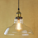 Buy 2016 New Arrivals American Industrial Pendant Light Vintage Glass Pendant Light Hanging Lights Bar Cafe Lamps Fixtures Clear Color Online China