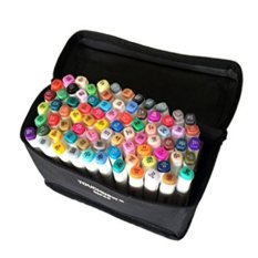 2017 Touchnew 6 Product Design 80 Colors Dual Tips Art Sketch Twin Marker Pens Highlighters With Carrying Case For Painting Coloring Highlighting And Underlining Intl Cheap