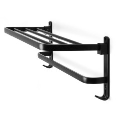 2018 New Foldable Towel Rail Holder Storage Rack Shelf Bar Wall Mounted Bathroom 590Mm Intl Coupon Code