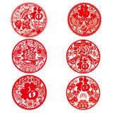 Review 2018 Spring Festival Window Grilles 30Cm6 Pieces Fu Word Glass Window Paste Year Of The Buddha Door Stickers Spring Festival Decorations China