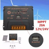 20A 12V 24V Lcd Mppt Solar Panel Regulator Battery Charge Controller Intelligent Intl China