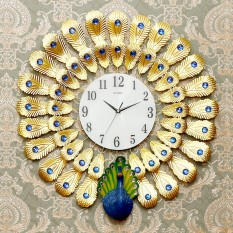 20Inch New Decorative Clock Wall Clock Living Room Modern Minimalist Creative Watches Big Peacock Wall European Mute Quartz Luminous Clocks 65Cm 65Cm Intl Cheap