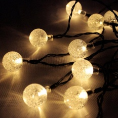 20LED Light Solar Powered Fairy Bubble Ball String Light Outdoor for Christmas Festival Garden Decorative Lamp - intl