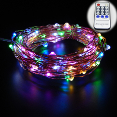 Buy 20M 66Ft Copper Wire Warm White Led String Lights Starry Lights Fairy Lights For Xmas Decorative 12V Power Adapter Remote Control Multicolor Er Chen