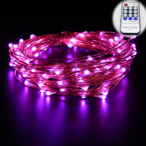 Sale 20M 66Ft Copper Wire Warm White Led String Lights Starry Lights Fairy Lights For Xmas Decorative 12V Power Adapter Remote Control Pink Er Chen Branded