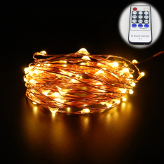 20M 66Ft Copper Wire Warm White Led String Lights Starry Lights Fairy Lights For Xmas Decorative 12V Power Adapter Remote Control Warm White Shop