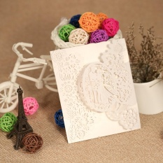 20pcs Romantic Wedding Party Invitation Cards Delicate Carved Pattern Banquet Decoration - Intl By Tomtop.
