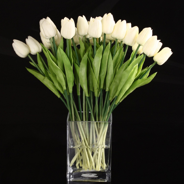 20pcs Tulip Flower Latex Real Touch For Wedding Decor Flower Best Quality KC451