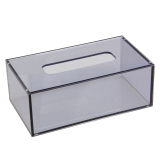 Top Rated 22 6 X 12 5 X 8 4Cm Acrylic Tissue Box Transparent Grey Intl