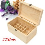 Lowest Price 22 Slots Essential Oil Wooden Storage Box Carrying Case Container Organizer Intl