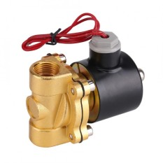 220V DN15 1/2 Electric Normal Closed Valve Electromagnetic Valve for Water Oil Air Gas - intl