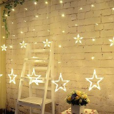 220V EU Plug LED Star Light Christmas lights Indoor/Outdoor Decorative Love Curtains Lamp - intl Singapore