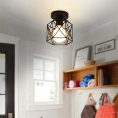220V Square Decorative Light Black Decoration Retro Series Ceiling Light Intl Oem Discount