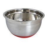 Brand New 22Cm Non Skid 304 Stainless Steel Baking Mixing Bowl With Orange Silicone Mat
