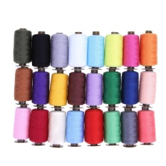 Cheapest 24 Colors 1000 Yard Polyester Embroidery Sewing Machine Threads Intl