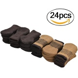 Retail 24 Pack Knitted Furniture Leg Floor Protectors Chair Leg Covers With Rubberized Grips Brown And Coffee Intl
