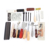 List Price 24 Pcs Set Leather Craft Punch Tools Kit For Stitching Carving Sewing Work Intl Oem