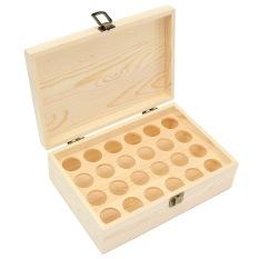 24 Slot 10ml Aromatherapy Essential Oil Bottle Wooden Box Organizer Storage Case - intl