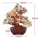 240Mm 9Inch Gemstone Quartz Gem Stone Crystal Money Tree Healing Reiki Feng Shui Intl Best Price
