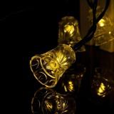 How To Get 24 6Ft 7 5M 40 Led Solar Light String Bell Solar Fairy String Lights Warm White Intl