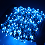 Compare Price 24M 480 Led Outdoor Led String Lights Copper Wire Christmas Starry Fairy Lights Power Adapter Blue Intl On China