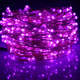 Price Compare 24M 480 Led Outdoor Led String Lights Warm White Copper Wire Christmas Starry Fairy Lights Power Adapter Purple Intl