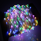 For Sale 24M 480Leds Outdoor Led String Lights Warm White Silver Wire Christmas Starry Fairy Lights Power Adapter Multicolor Intl