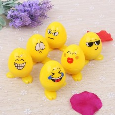 Discounted 24Pcs Egg Shaped Plastic Stamps Cute Self Inking Emoji Expression Stamps Toy For Scrapbooking Decor Children Gift Lucky G Intl