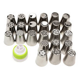 Top Rated 24Pcs Russian Icing Piping Nozzles Tips Cake Decorating Sugarcraft Pastry Tool