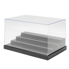 25cm/9.8 Clear Acrylic Display Case Tray 4 Steps Box Dustproof Protection - intl