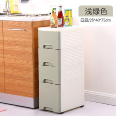 25cm Wide Simplicity Storage Cabinets Plastic Narrow Cabinet Drawer Type Locker Bathroom Gap Storage Shelf Kitchen Box