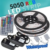 List Price 2 5M Smd Rgb 5050 Waterproof Led Strip Light 300 44 Key Remote 12V Supply Power Intl Not Specified