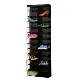 Cheapest 26 Pair Over Door Hanging Shoe Rack Shelf Storage Stand Organiser Pocket Holder Black