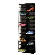Discounted 26 Pair Over Door Hanging Shoe Rack Shelf Storage Stand Organiser Pocket Holder Black