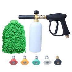 Buy 262808027798 High Pressure Washer G Un Water Jet Snow Foam Lance Cannon W Glove 5 Nozzle Tips Intl Cheap On China