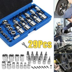 Discount 29Pcs Torx Star Sockets And Bit Set Female E Torx Security Bits 1 4 3 8 1 2 Intl Not Specified On China